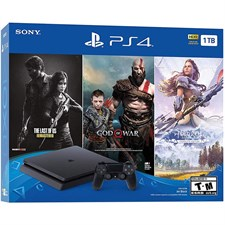 Sony PlayStation 4 1TB Bundle With 3-Games PS4 Gaming Console Jet Black CUH-2215B