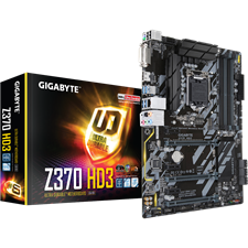 Gigabyte Z370 HD3 Intel Z370 Ultra Durable Socket 1151 Motherboard with CrossFire Support