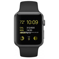 Apple Watch 42mm Space Gray Aluminum Case with Black Sport Band