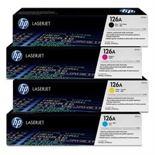 HP 126A 4-pack Cyan/Magenta/Yellow/Black Original LaserJet Toner Cartridges