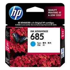 HP 685 Cyan Original Ink Advantage Cartridge (CZ122AA)