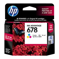 HP 678 Tri-color Original Ink Advantage Cartridge (CZ108AA)