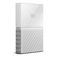 WD - My Passport 1TB External USB 3.0 Portable Hard Drive - White (WDBYNN0010BWT)