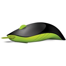 Alcatroz Shark USB Wired Mouse (Black/Lime Green)
