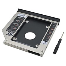 2nd HDD/SSD SATA-III Caddy for Universal CD/DVD-ROM