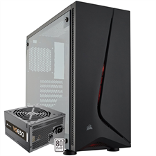 Corsair Carbide Series SPEC-05 Mid-Tower Gaming Case — Black + VS650 ATX Power Supply Included