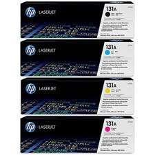 HP (131A) CF210A,CF211A,CF212A,CF213A Toner Cartridge Set (Black/Cyan/Magenta/Yellow)