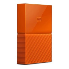 WD - My Passport 1TB External USB 3.0 Portable Hard Drive - Orange (WDBYNN0010BOR)