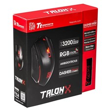 Thermaltake Tt eSPORTS Talon X  Gaming Gear Mouse & Mouse Pad Combo (Black) - MO-CPC-WDOOBK-01