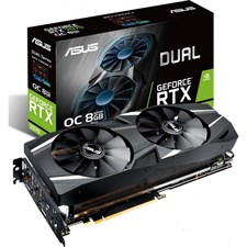ASUS DUAL-RTX2070-O8G GeForce RTX 2070 OC Edition Graphics Card 8GB GDDR6