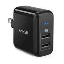 Anker PowerPort 2 Lite | 2-Port USB Wall Charger (Black) A2129J11