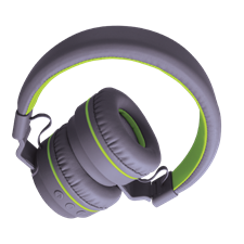 SonicGear Airphone V Stereo Bluetooth Headset (Grey-Lime Green)