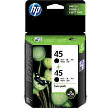 HP 45 2-pack Black Original Ink Cartridges Twin Pack
