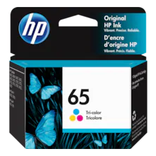 HP 65 Tri-Color Original Ink Cartridge, N9K01AN#140