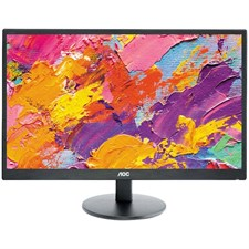"AOC E2470SWH/89 23.6"" Widescreen TN LED Black Multimedia FHD Monitor"