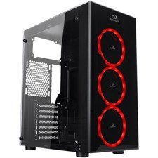 Redragon Thundercracker 3 x RGB LED Tempered Glass Side/Front ATX Gaming Chassis Black - GC-605
