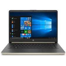 "HP 14-DQ1038WM - 10th Gen Ci3 1005G1, 4GB, 128GB SSD, Intel UHD, 14"" HD, Win 10 (Pale Gold)"