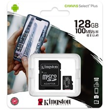 Kingston Canvas Select Plus microSD Card 128GB SDCS2/128GB