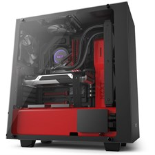 NZXT S340 Elite Black + Red Tempered Glass Compact ATX Mid-Tower Case