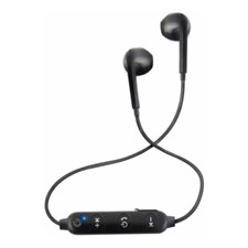 SonicGear BlueSports 1 Bluetooth Sports Earphones with Mic for Smartphone, Black