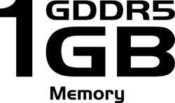 1GB GDDR5 Memory