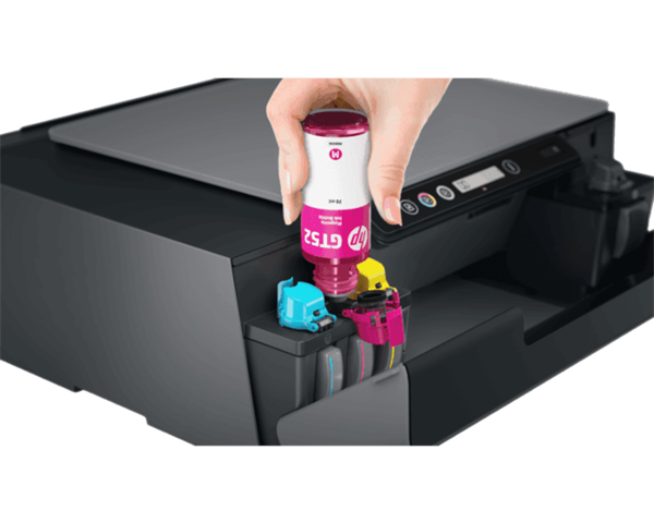 Close up of ink cartridges