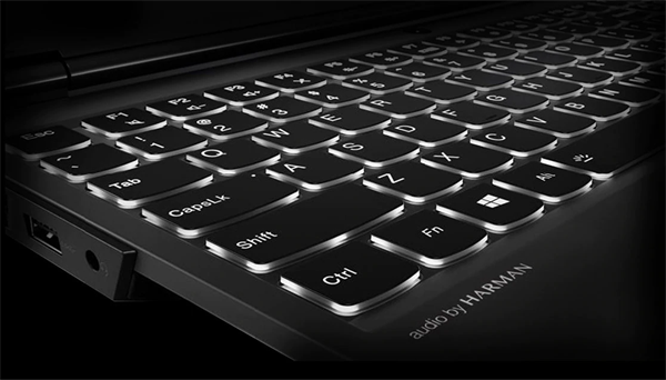 Lenovo Legion Y530 gaming laptop - close shot of keyboard