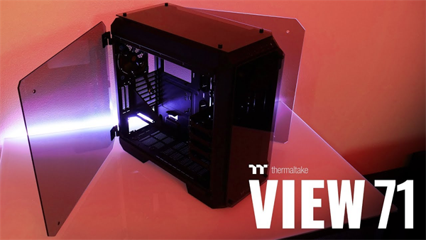 Thermaltake View 71 Tempered Glass Edition Full Tower Chassis Ca 1i7 00f1wn 00 Sk Tech