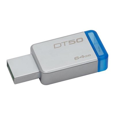 USB Flash Drives - Kingston 64GB DataTraveler 50 USB 3.0 Flash Drive, Speed Up to 110MB/s (DT50/64GBFR) in Pakistan for Rs.1450.00 | Computer Zone