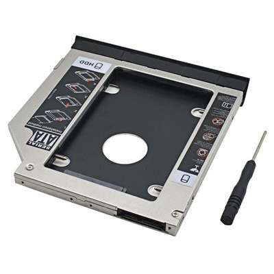 SATA 2nd HDD Caddy for 12 7mm Universal CD/DVD-ROM Price in